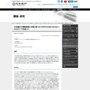 (リサーチラボ)中央銀行の情報発信と市場心理
