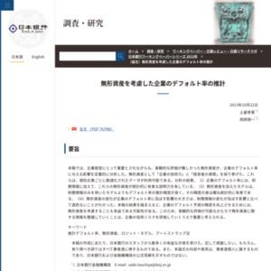 (論文)無形資産を考慮した企業のデフォルト率の推計