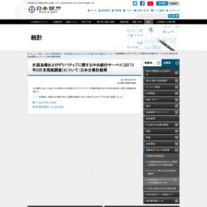 外国為替およびデリバティブに関する中央銀行サーベイ(2013年6月末残高調査)について:日本分集計結果
