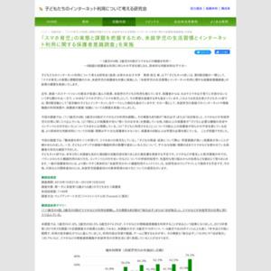 未就学児の生活習慣とインターネット利用に関する保護者意識調査