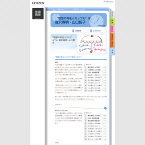 """""""理想の有名人カップル""""は、唐沢寿明・山口智子(1998年2月)"""