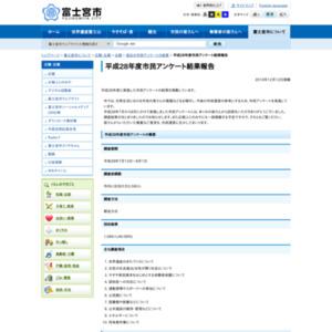 平成28年度市民アンケート