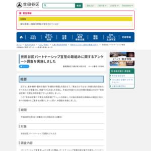 世田谷区パートナーシップ宣誓の取組みに関するアンケート調査