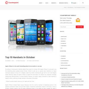 Top 10 Handsets in October