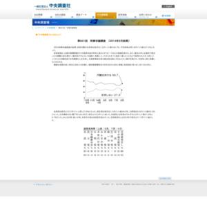 第661回 時事世論調査 〔2014年9月結果〕