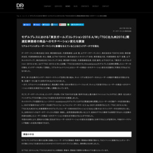 モデルプレスにおける「東京ガールズコレクション2016 A/W」「TGC北九州2016」関連記事読者の商品へのモチベーション変化を調査