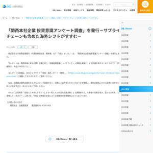 関西本社企業 投資意識アンケート調査