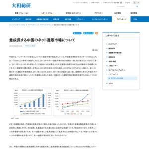 急成長する中国のネット通販市場について