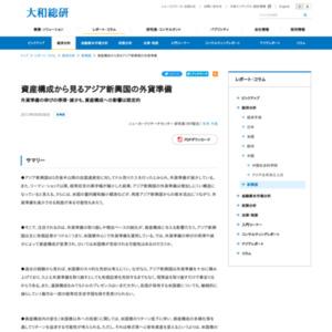 資産構成から見るアジア新興国の外貨準備