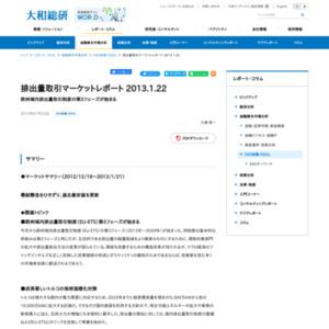 排出量取引マーケットレポート 2013.1.22