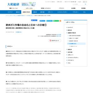 欧州ガス市場の自由化と日本への示唆(1)