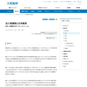 法人税減税と日本経済