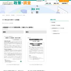 DOR111号(2015年1~3月期景況調査)速報