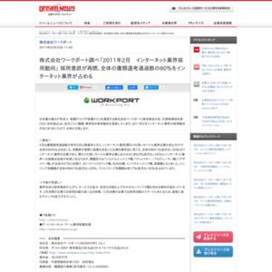 2011年2月 インターネット業界採用動向