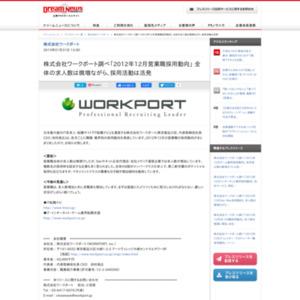 2012年12月営業職採用動向