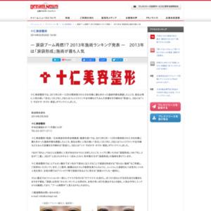 2013年施術ランキング