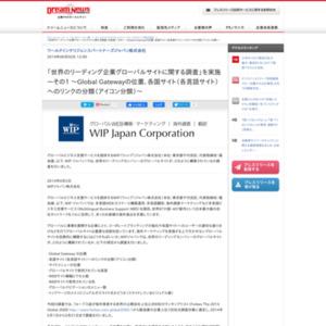 世界のリーディング企業グローバルサイトに関する調査