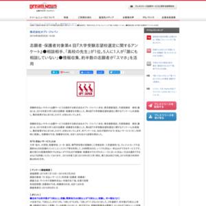 第4回『大学受験志望校選定に関するアンケート』