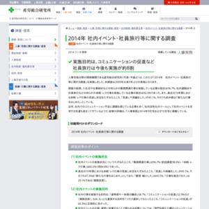 2014年 社内イベント・社員旅行等に関する調査