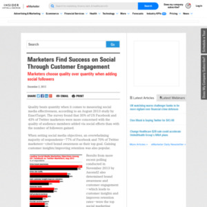 Marketers Find Success on Social Through Customer Engagement