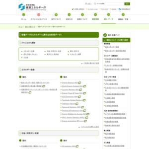 【統計ポータルサイト】 各種データ(エネルギーに関する分析用データ)