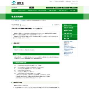 平成22年12月環境経済観測調査