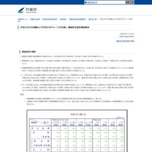 機械受注統計調査報告(平成23年9月実績および10~12月見通し)