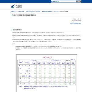 機械受注統計調査報告(平成24年2月実績)