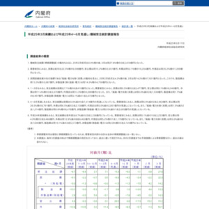 機械受注統計調査報告(平成25年3月実績および平成25年4~6月見通し)