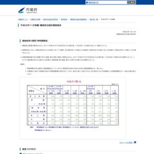 平成29年11月実績:機械受注統計調査報告