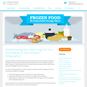 Food Freezing Tips: How Long Can You Store Meals in Your Freezer?