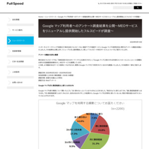 Google マップ利用者へのアンケート調査結果を公開