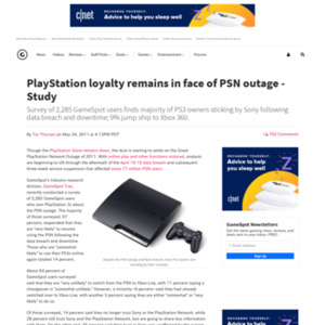 PlayStation loyalty remains in face of PSN outage - Study