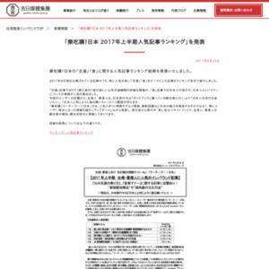 樂吃購!日本 2017年上半期人気記事ランキング