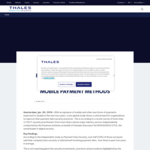 Global study shows increasing security risks to payment data and lack of confidence in securing mobile payment methods