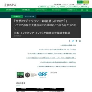 日本・インドネシア・インド3か国共同世論調査