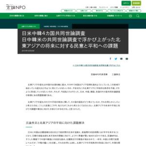 日米中韓4カ国共同世論調査