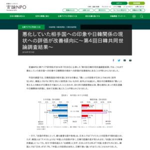 第4回日韓共同世論調査