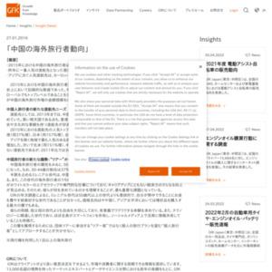 中国の海外旅行者動向