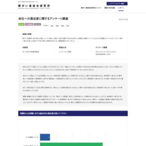 会社への満足度に関するアンケート調査