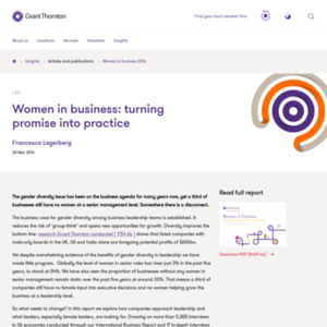 Women in business: turning promise into practice
