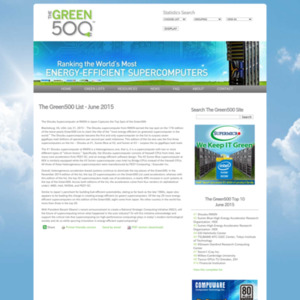 The Green500 List - June 2015