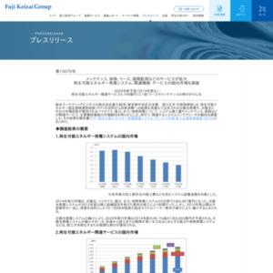 再生可能エネルギー発電システム、関連機器・サービスの国内市場を調査