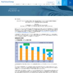 再生可能エネルギー発電関連の国内市場を調査
