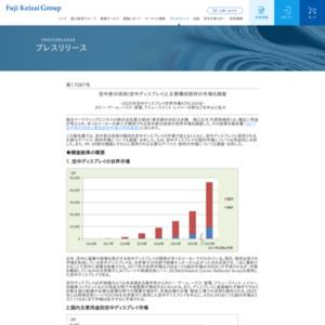 空中表示技術(空中ディスプレイ)と主要構成部材の市場を調査