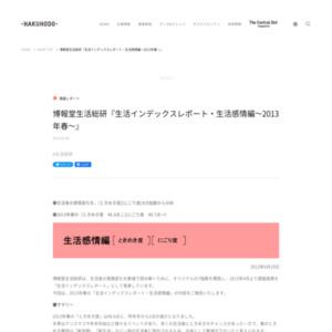 生活インデックスレポート 生活感情編~2013年春~