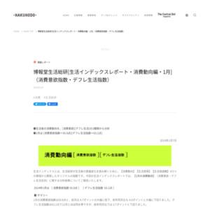 [生活インデックスレポート・消費動向編・2014年1月](消費意欲指数・デフレ生活指数)