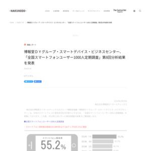 「全国スマートフォンユーザー1000人定期調査」第8回