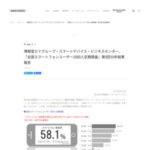 「全国スマートフォンユーザー1000人定期調査」第9回
