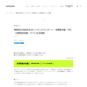 [生活インデックスレポート・消費動向編・2014年7月](消費意欲指数・デフレ生活指数)